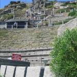 Blick auf die Zuschauertribüne im Minack Theatre