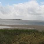 Blick vom Deich Utersum zur Insel Amrum