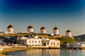 Windmühlen von Mykonos © Juergen Hansohm / Quelle: http://www.pixelio.de