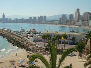Alicante / Hafen von Benidorm mit Skyline © Steffi Pelz / Quelle: www.pixelio.de
