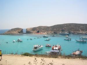 Die blaue Lagune auf Comino  © gwennilein / Quelle: pixeliode