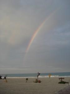 Djerba: Regenbogen am Strand © heiko-bragenitz Quelle: pixeli
