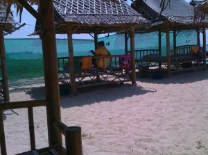 Massagestudio am Strand in Thailand