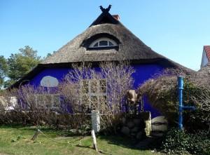 Die blaue Scheune von Vitte (Westseite) © Helga Ewert / Quelle: pixelio.de